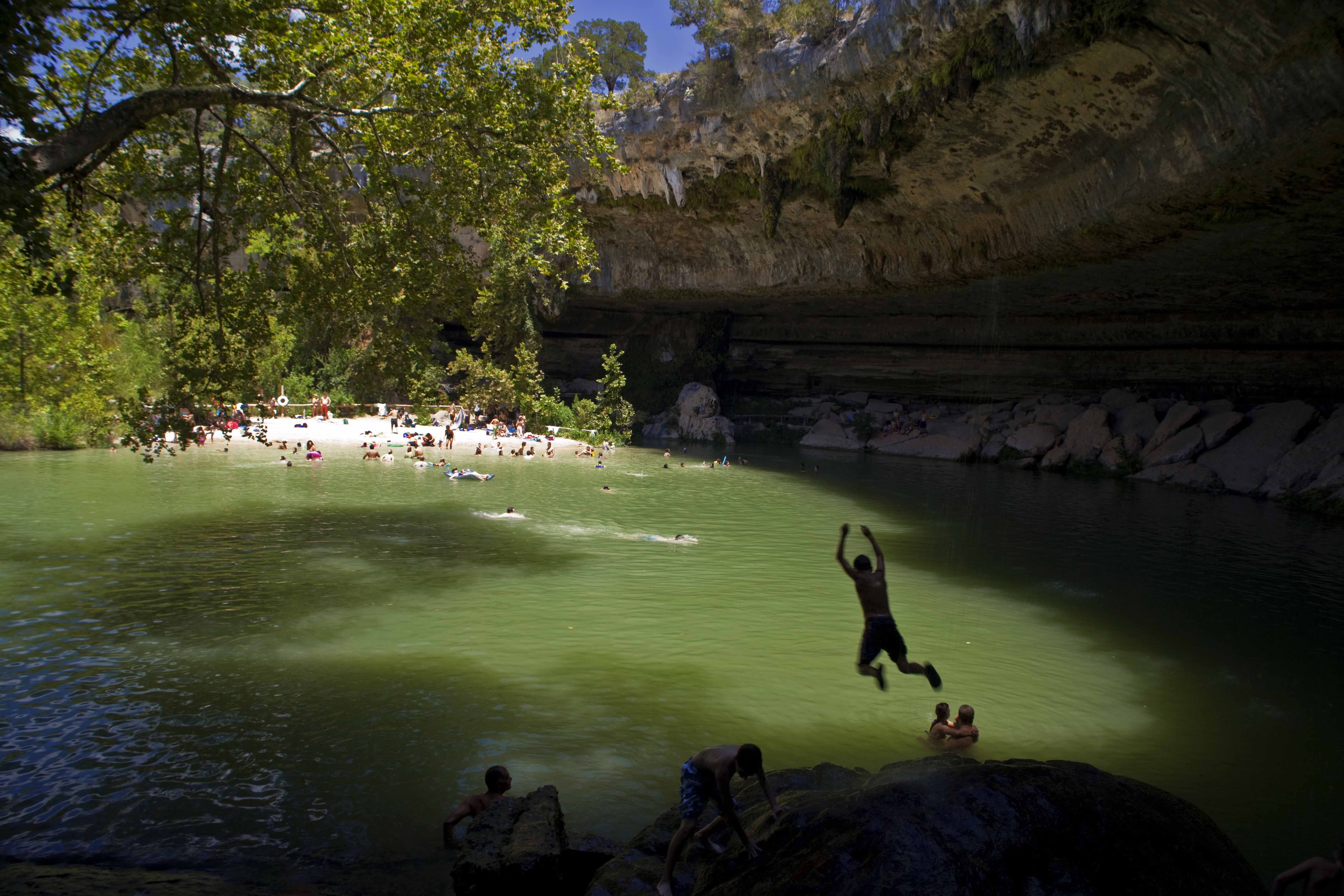 Hamilton Pool Is A Secluded Lesser Known Favorite Waterfall Cave Swimming Near Austin